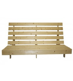 York Pine Futon Frame on Wheels
