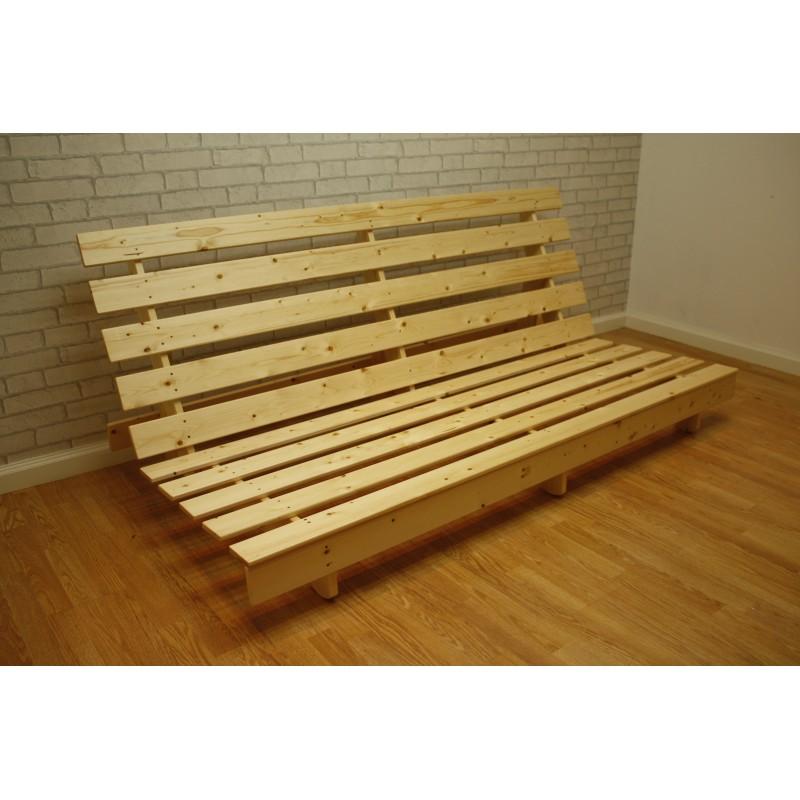 york pine futon frame on wheels     york futon base  rh   funkyfuton co uk
