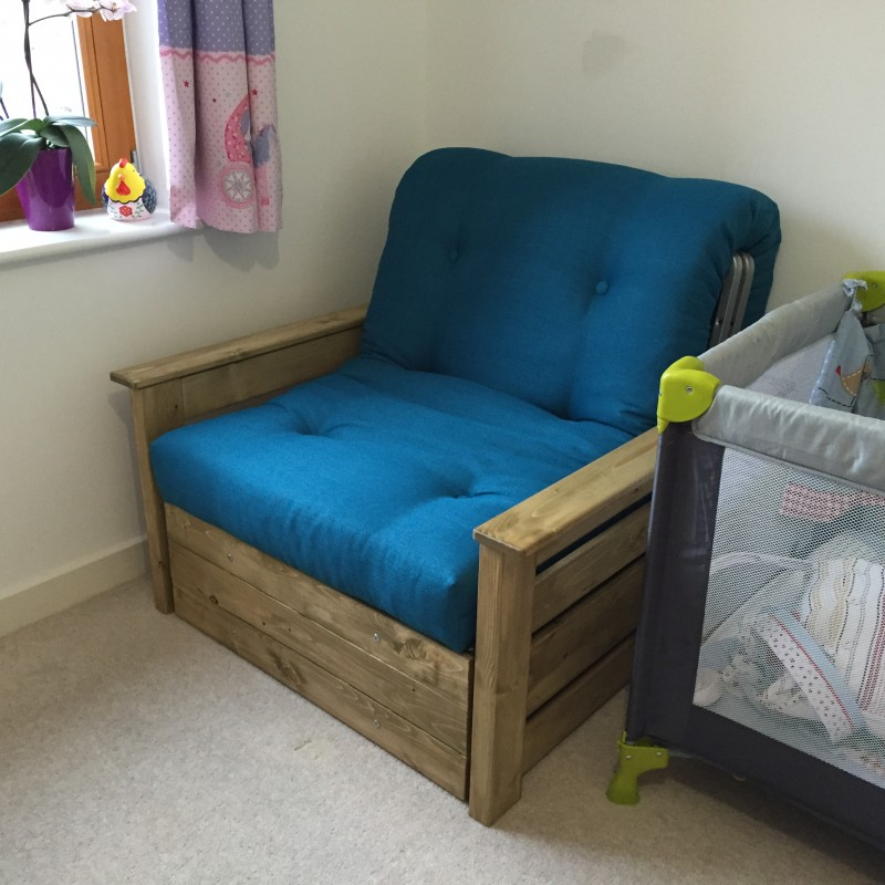 ... Edinburgh Chair Bed + Storage